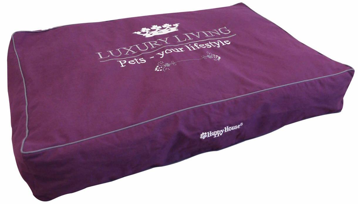 Подушка-блок для домашних животных Happy House Luxsury Living, цвет: пурпурный, 110х75х15 см4006-11