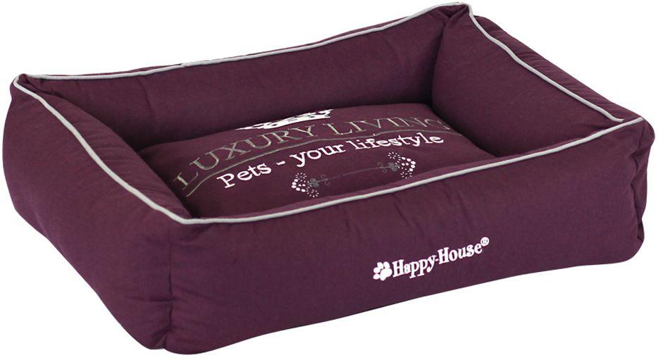 Лежак для животных Happy House Luxsury Living, цвет: пурпурный, 55 х 45 х 12 см4010-11Мягкий и уютный лежак Happy House Luxsury Living обязательно понравится вашему питомцу. Он выполнен из хлопка, а наполнитель - полиэстер. Такой материал не теряет своей формы долгое время. Борта и съемный матрас обеспечат вашему любимцу уют. Мягкий лежак станет излюбленным местом вашего питомца, подарит спокойный и комфортный сон, а также убережет вашу мебель от многочисленной шерсти.