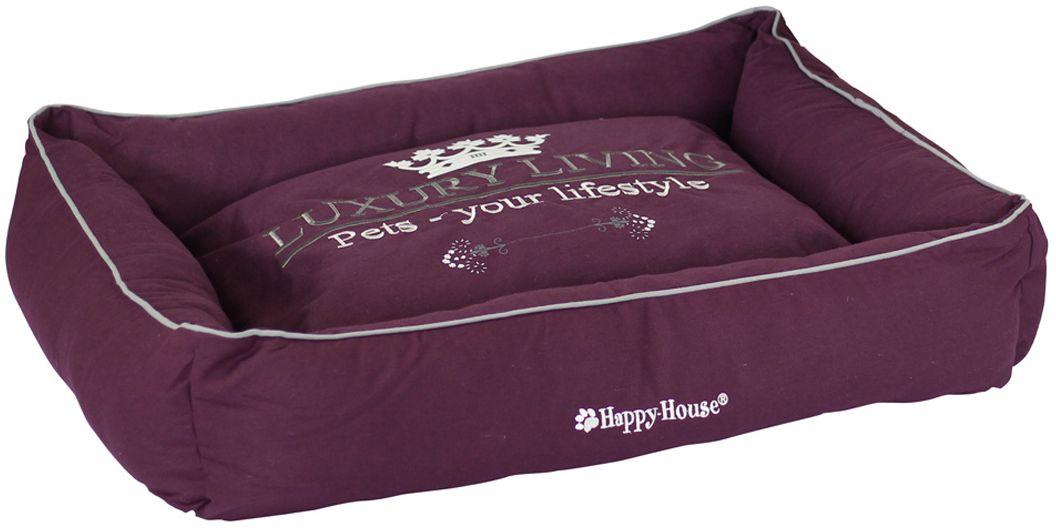 Лежак для животных Happy House Luxsury Living, цвет: пурпурный, 75 х 60 х 12 см4011-11Мягкий и уютный лежак Happy House Luxsury Living обязательно понравится вашему питомцу. Он выполнен из хлопка, а наполнитель - полиэстер. Такой материал не теряет своей формы долгое время. Борта и съемный матрас обеспечат вашему любимцу уют. Мягкий лежак станет излюбленным местом вашего питомца, подарит спокойный и комфортный сон, а также убережет вашу мебель от многочисленной шерсти.