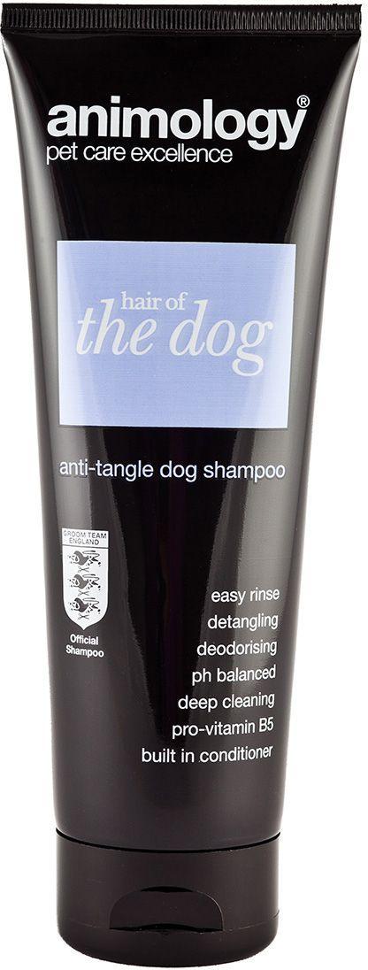 Шампунь-кондиционер Animology Hair Of The Dog концентрированный, от колтунов, 250 мл41420Шампунь-кондиционер Animology Hair of the dog (Хеа-ров зе дог) обогащён витаминами, с добавлением кондиционера. Шампунь рекомендован для борьбы с колтунами. Придает шерсти эластичность, устраняет сухость и способствует поддержанию pН баланса кожного покрова. Оживляет шерсть, способствует объёму, питает и дезинфицирует. Розничная упаковка: Тюбик 250 мл Инструкция по применению: Намочите шерсть животного теплой водой, нанесите разведённый в воде шампунь-кондиционер, вспеньте его, тщательно ополосните и высушите. При необходимости повторите процедуру ещё раз. Рекомендовано разбавлять водой в пропорции 1:15.