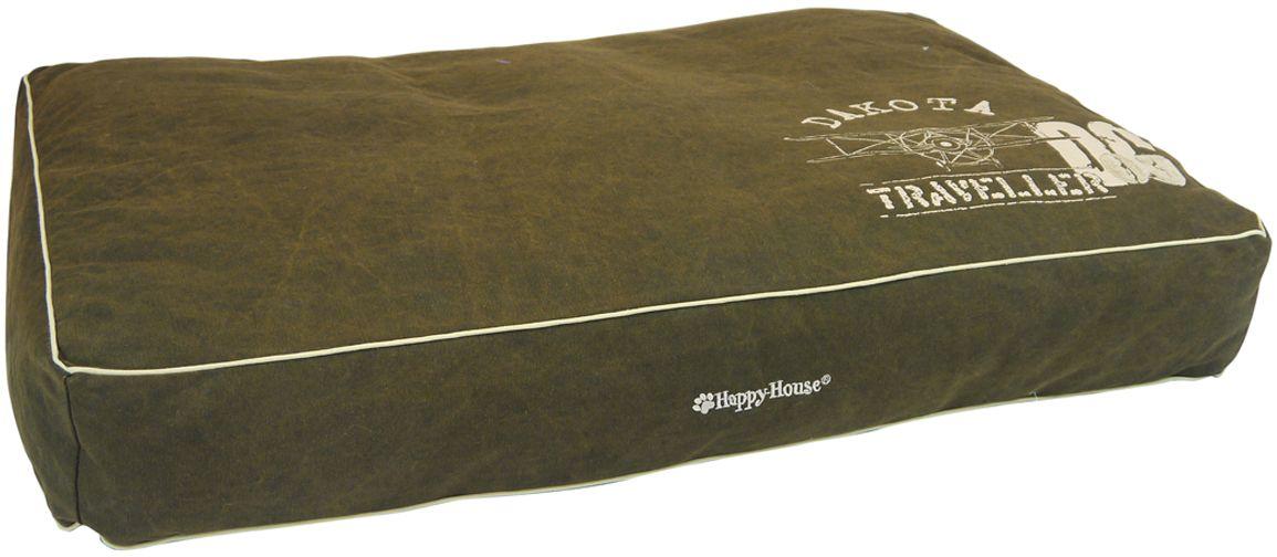 Подушка для домашних животных Happy House Dakota, цвет: темно-коричневый, 95х65х15 см4187-2