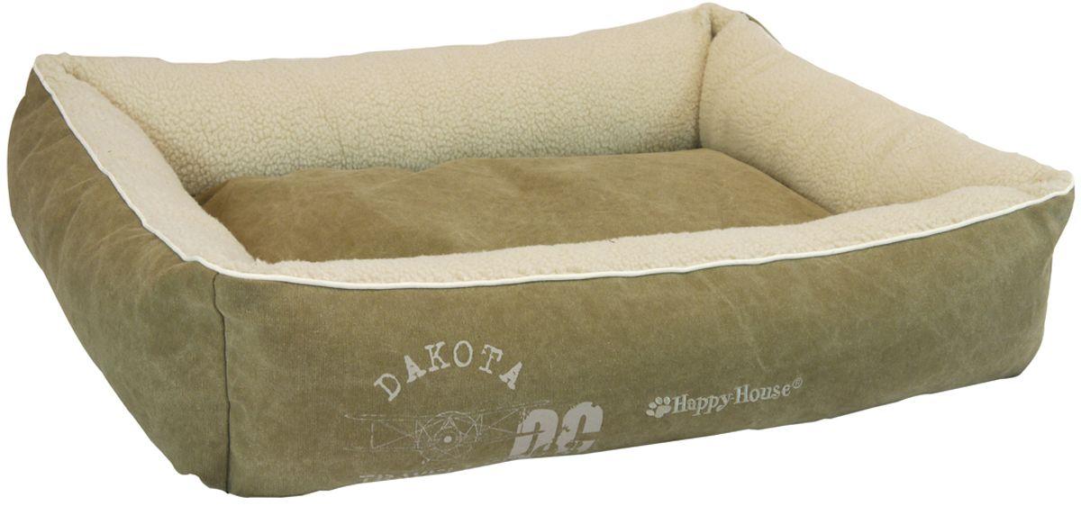 Лежак для животных Happy House Dakota, цвет: серо-бежевый, 95 х 75 х 15 см4197-1Мягкий лежак для животных Happy House Dakota обязательно понравится вашему питомцу. Он выполнен из хлопка и плюша, а наполнитель - из полиэстера. Такой материал не теряет своей формы долгое время. Борта обеспечат вашему любимцу уют. Изделие имеет съемную подстилку. Лежак Happy House Dakota станет излюбленным местом вашего питомца, подарит ему спокойный и комфортный сон, а также убережет вашу мебель от многочисленной шерсти. Размер по верхнему краю: 95 х 75 см. Высота: 15 см.