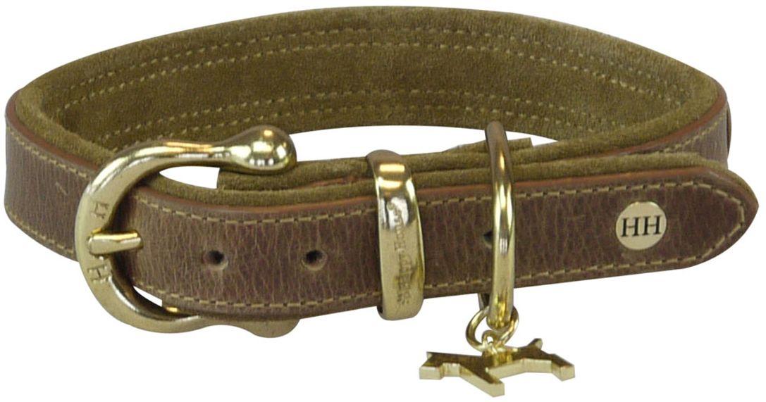 Ошейник для собак Happy House Luxury, цвет: коньячный, обхват шеи 38-45 см, ширина 2,5 см. Размер M6061-3