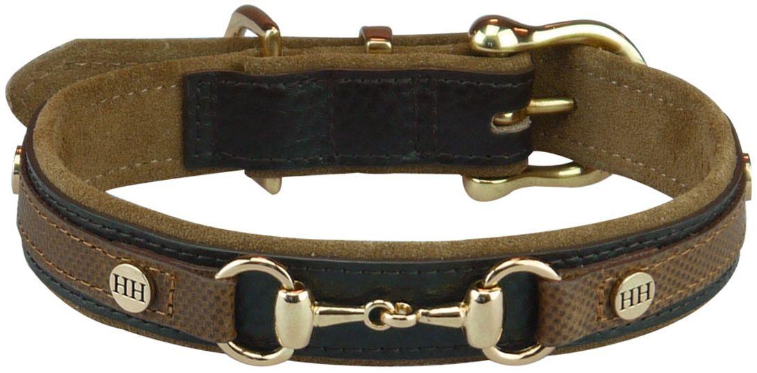 Ошейник для собак Happy House Luxury Classic, цвет: коричневый, обхват шеи 24-33 см, ширина 2,5 см. Размер XS6070-1