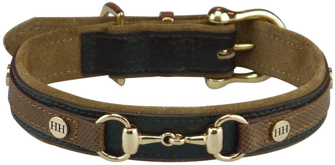 Ошейник для собак Happy House Luxury Classic, цвет: коричневый, обхват шеи 43-50 см, ширина 2,5 см. Размер L6070-4