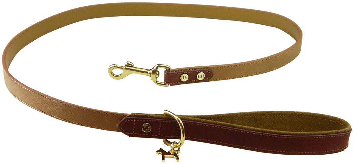 Поводок для собак Happy House Luxury, цвет: песочный, ореховый, 125 см6101