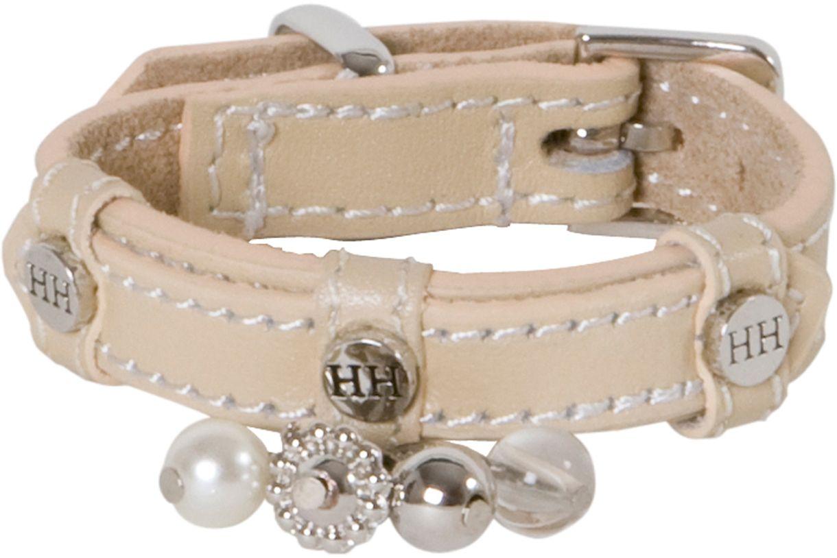 Ошейник для собак Happy House Beads, цвет: песочный, обхват шеи 15-18 см, ширина 1,2 см. Размер XXXS6701-1