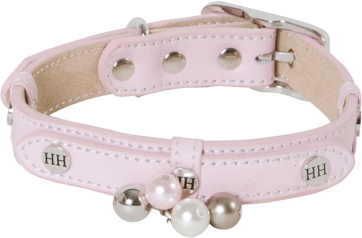 Ошейник для собак Happy House Beads, цвет: розовый, обхват шеи 33-39 см, ширина 2 см. Размер S6702-4Ошейник для собак Happy House Beads станет изысканным аксессуаром для вашей собачки. Ошейник выполнен из натуральной гладкой и замшевой кожи. Он украшен клепками, контрастной строчкой и подвесками. Размер ошейника регулируется при помощи металлической пряжки. Имеется металлическое кольцо для крепления поводка. Клеевой слой, сверхпрочные нити, крепкие металлические элементы делают ошейник надежным и долговечным. Изделие отличается высоким качеством, удобством и универсальностью. Ваша собака тоже хочет выглядеть стильно! Такой модный ошейник станет для питомца отличным украшением и выделит его среди остальных животных. Обхват шеи: 33-39 см. Ширина ошейника: 2 см.