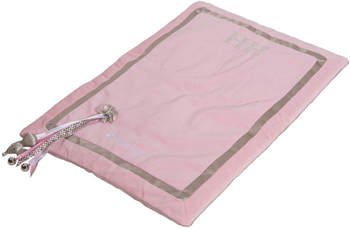 Подстилка для кошек Happy House Cat Lifestyle, со съемной игрушкой, цвет: розовый, 73х50х5 см8033-1