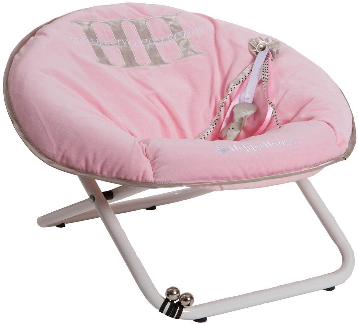 Стул для кошек Happy House Cat Lifestyle, цвет: розовый, 55 х 51 х 36 см8308-1Стул для животных Happy House Cat Lifestyle - прекрасный большой стул для кошки. Стул имеет металлический каркас и сиденье, выполненное из полиэстера с наполнителем из полиэстерового волокна. Сиденье легко снимается с каркаса. Его можно стирать при температуре 30°С. На сиденье имеется игрушка. С таким стулом вашей кошке не придется скучать. Максимальная вместимость стула - 15 кг. На таком стуле вашему любимцу будет мягко и тепло. Он подарит вашему питомцу ощущение уюта и уединенности.