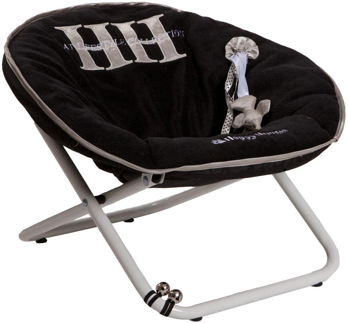 Стул для кошек Happy House Cat Lifestyle, цвет: черный, 55 х 51 х 36 см8308-3Стул для животных Happy House Cat Lifestyle - прекрасный большой стул для кошки. Стул имеет металлический каркас и сиденье, выполненное из полиэстера с наполнителем из полиэстерового волокна. Сиденье легко снимается с каркаса. Его можно стирать при температуре 30°С. На сиденье имеется игрушка. С таким стулом вашей кошке не придется скучать. Максимальная вместимость стула - 15 кг. На таком стуле вашему любимцу будет мягко и тепло. Он подарит вашему питомцу ощущение уюта и уединенности.