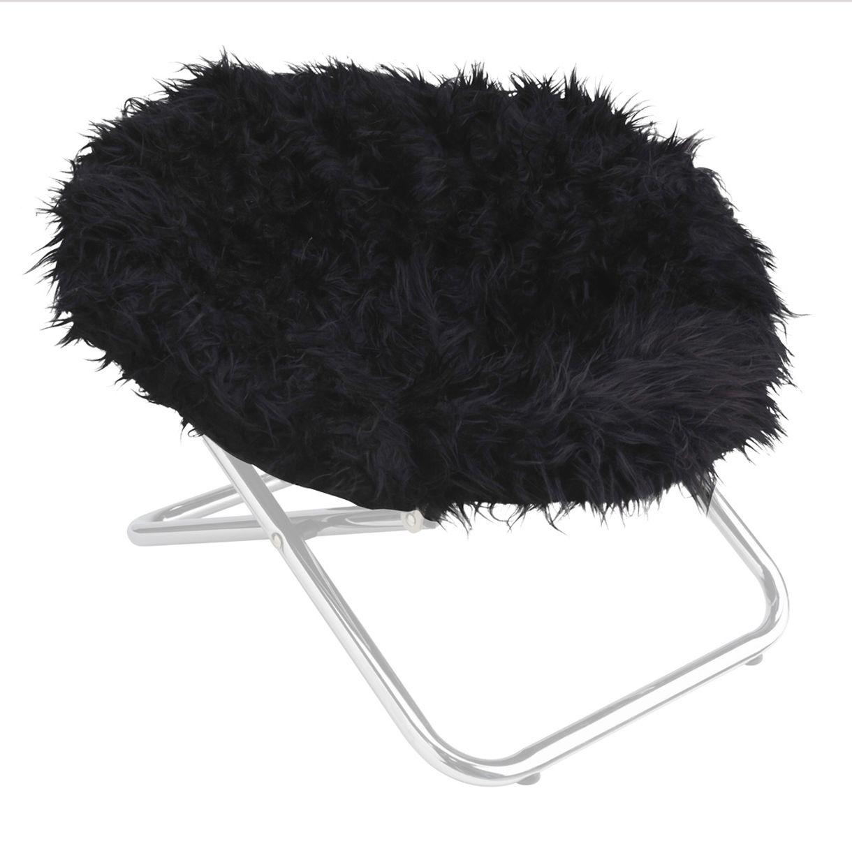 Стул для животных Happy House Black & White, цвет: черный, 55 х 51 х 36 см8310-4Стул для животных Happy House Black & White - прекрасный большой стул для кошки или собаки. Стул имеет металлический каркас и сиденье, выполненное из мягкого искусственного меха. Сиденье легко снимается с каркаса. Его можно стирать при температуре 30°С. Максимальная вместимость стула - 15 кг. На таком стуле вашему любимцу будет мягко и тепло. Он подарит вашему питомцу ощущение уюта и уединенности.