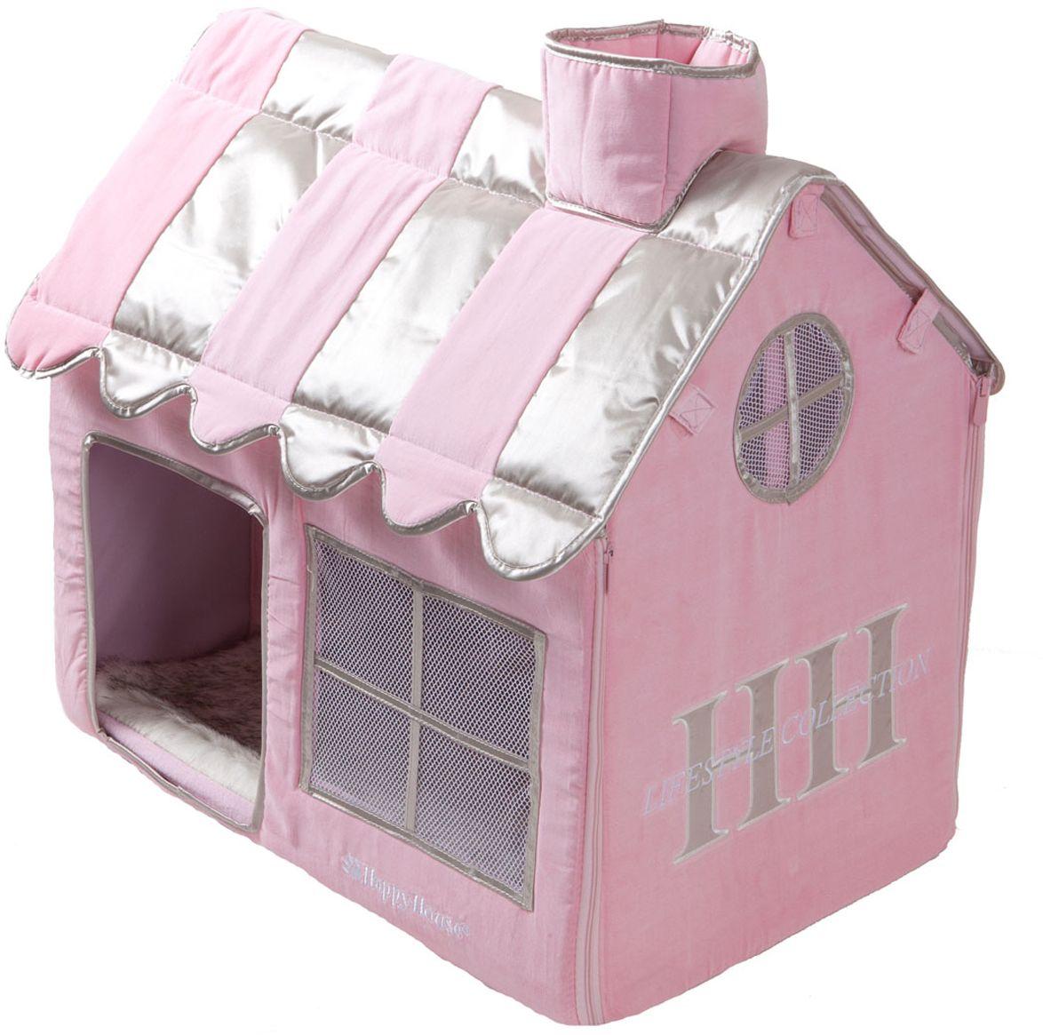 Вилла для кошек Happy House Cat Lifestyle, цвет: розовый, 62х42х59 см8480-1