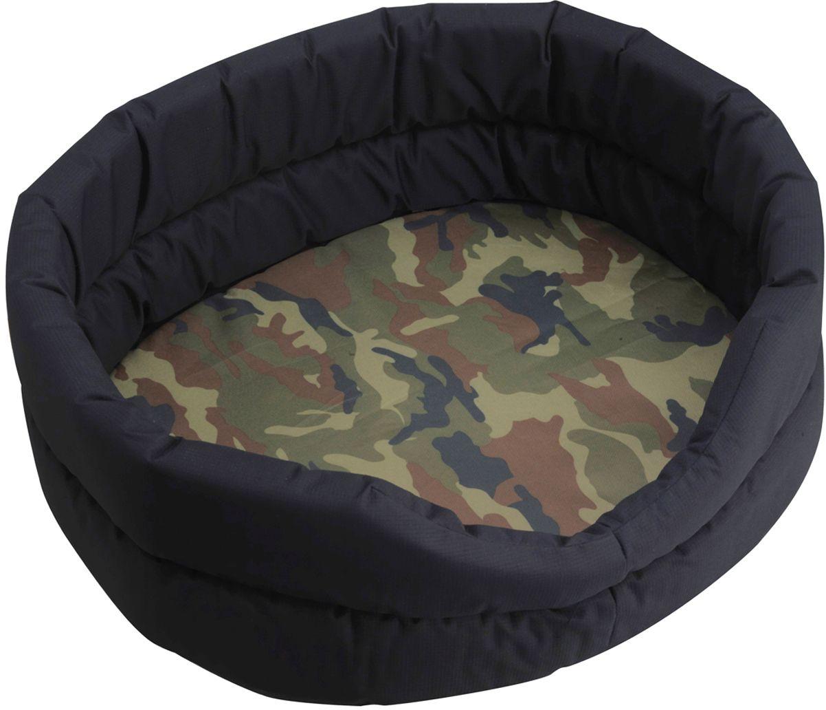 Лежак для собак Happy House Outdoor, цвет: камуфляж, 52 х 43 х 17 см8715-2Мягкий лежак для собак Happy House Outdoor обязательно понравится вашему питомцу. Он выполнен из высококачественного хлопка, а наполнитель из полиэстера. Такой материал не теряет своей формы долгое время. Лежак оснащен съемной подстилкой. Высокие борта обеспечат вашему любимцу уют. За изделием легко ухаживать, его можно стирать вручную. Мягкий лежак станет излюбленным местом вашего питомца, подарит ему спокойный и комфортный сон, а также убережет вашу мебель от многочисленной шерсти.