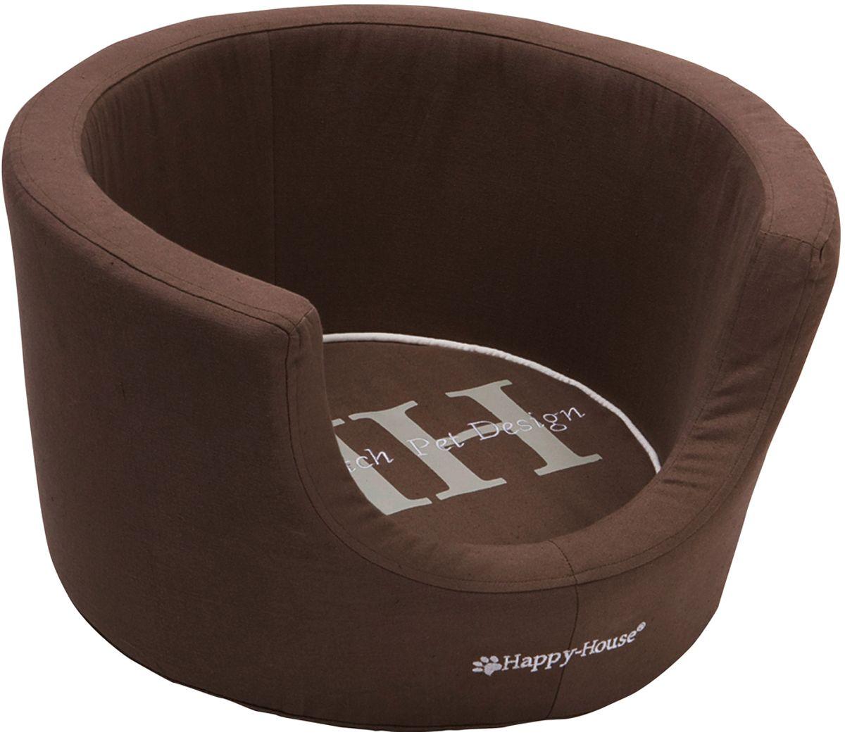Корзина для домашних животных Happy House Canvas Comfort, цвет: коричневый, 52х52х31 см8912-4