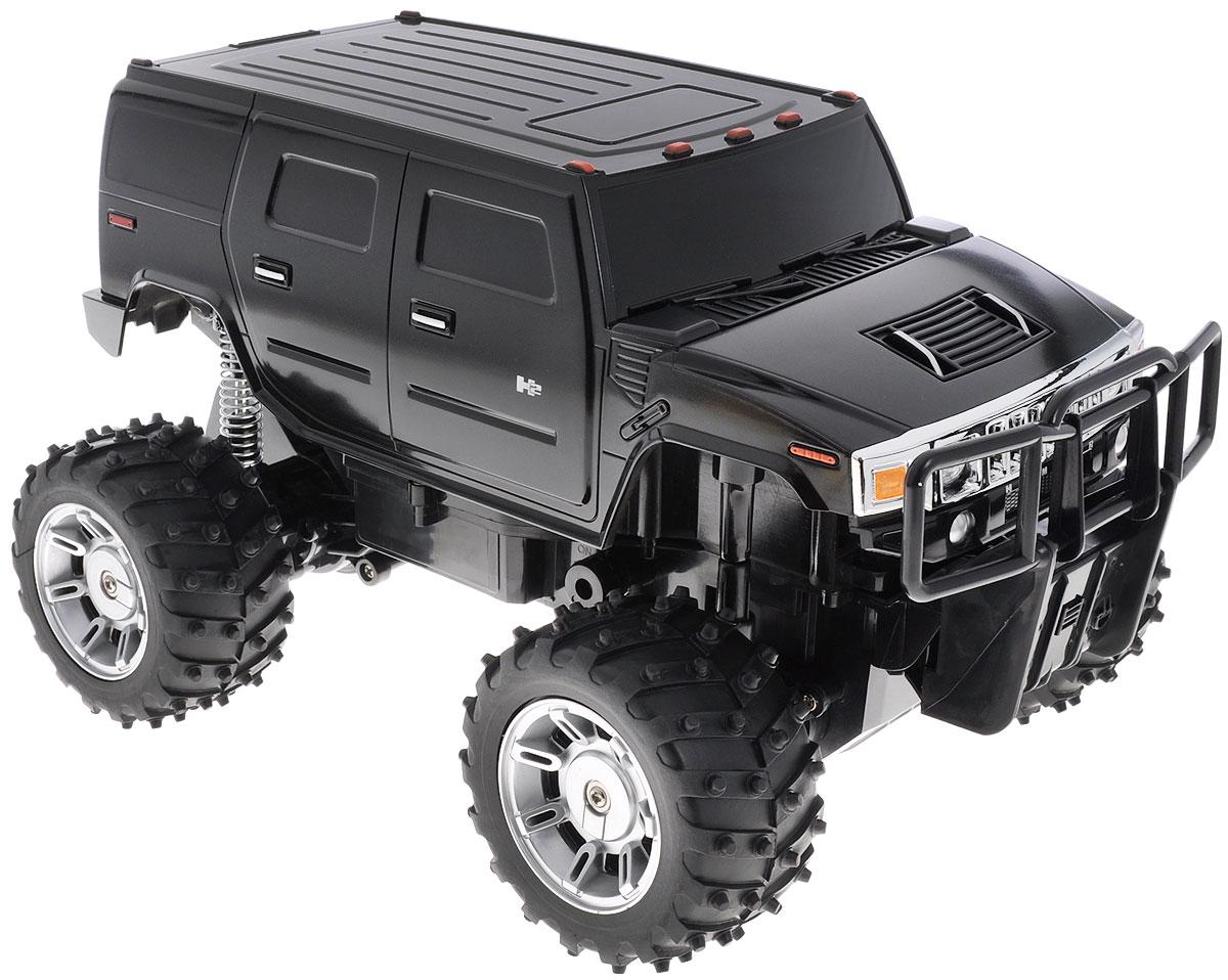 Rastar Радиоуправляемая модель Hummer H2 цвет черный масштаб 1:1428100_черныйРадиоуправляемая модель Rastar Hummer H2 станет отличным подарком любому мальчику! Все дети хотят иметь в наборе своих игрушек ослепительные, невероятные и крутые автомобили на радиоуправлении. Тем более, если это автомобиль известной марки с проработкой всех деталей, удивляющий приятным качеством и видом. Одной из таких моделей является автомобиль на радиоуправлении Rastar Hummer H2. Это точная копия настоящего авто в масштабе 1:14. Автомобиль отличается потрясающей маневренностью, динамикой и покладистостью. Возможные движения: вперед, назад, вправо, влево, остановка. При движении у машины светятся передние и задние фары. Машина работает от аккумулятора (входят в комплект). Для работы пульта управления необходима 1 батарейка 9V (6F22) (не входит в комплект).