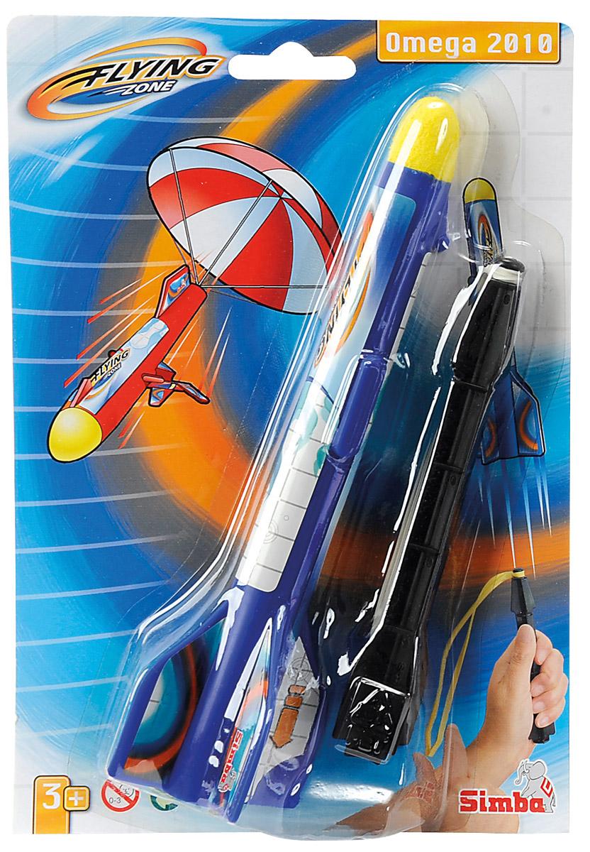 Simba Ракета Omega 2010 цвет синий черный7207709_Черная стрелаРакета Simba Omega 2010 - это отличная игрушка для веселого отдыха на воздухе. Ракета понравится как детям, так и взрослым. Ракета запускается при помощи рогатки, а при спуске у неё открывается парашют. Игрушка изготовлена из яркого безопасного пластика. Игра с такой игрушкой тренирует ловкость, координацию движений и сноровку. Порадуйте своего ребенка таким замечательным подарком!