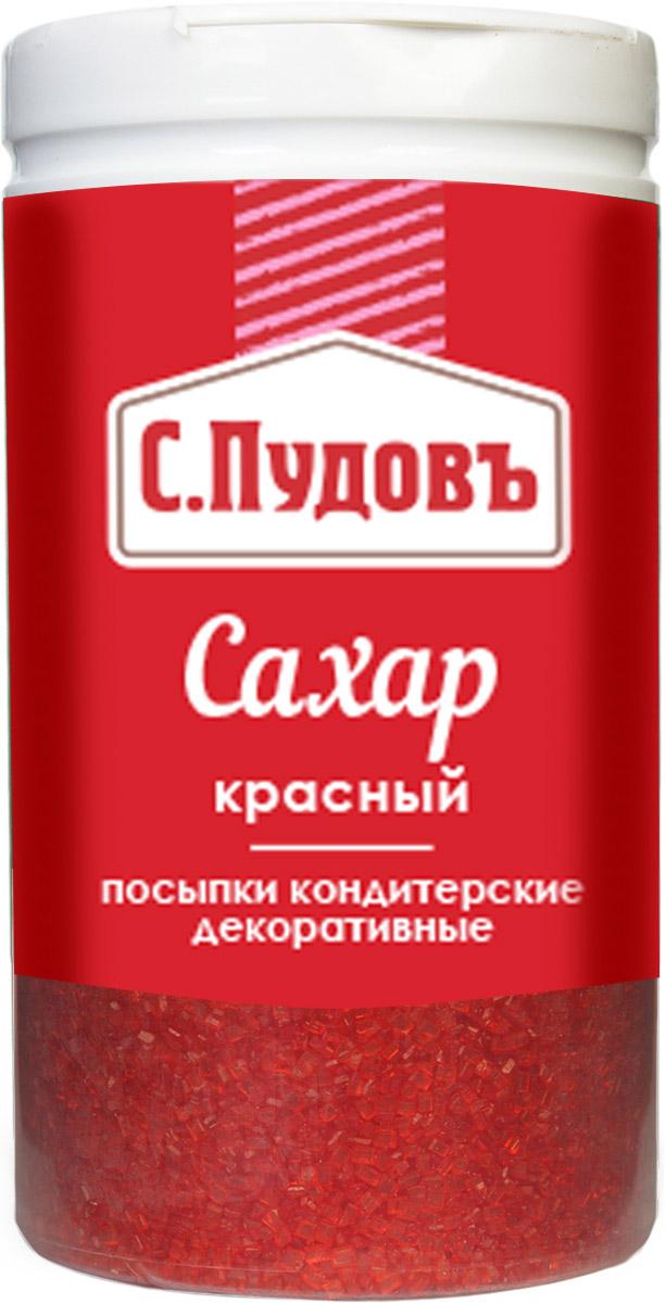 Пудовъ посыпки сахар красный, 65 г