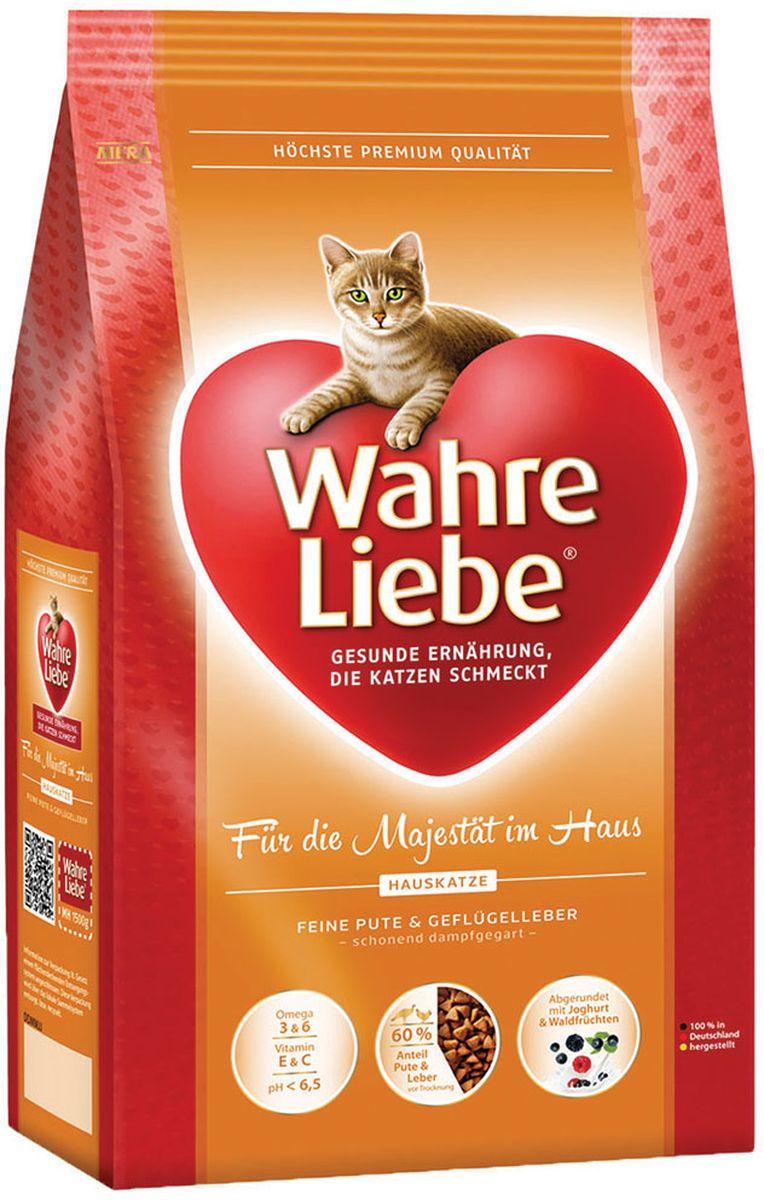 Корм сухой Wahre Liebe Hauskatze, для домашних кошек, 1,5 кг30445Для домашних кошек Инновационная формула для кошек, живущих в Вашем доме С нежной индейкой, печенью домашней птицы и рисом, по-царски заправленная йогуртом и лесными плодами. Домашние кошки ограничены в движении. В нашем составе точно учтена энергия, необходимая Вашей кошке. Компоненты корма содержат оптимально питательные вещества и очень легко усваиваются.
