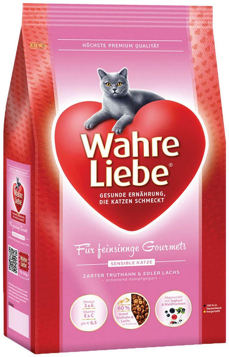 Корм сухой Wahre Liebe Sensible, для привередливых и аллергичных кошек, 1,5 кг30545Для привередливых (аллергичных) кошек Нежный состав для привередливых (аллергичных) кошек Мясо индейки и лосось идеально сочетаются с легкоусвояемым рисом. Чувствительные кошки нуждаются в диете, которая является особенно легко усваиваемой. С нашей специальной формулой Вы можете удовлетворить это требование ваших любимцев. Компоненты индейки и лосося, соединённые с рисом, являются источником необходимых углеводов.