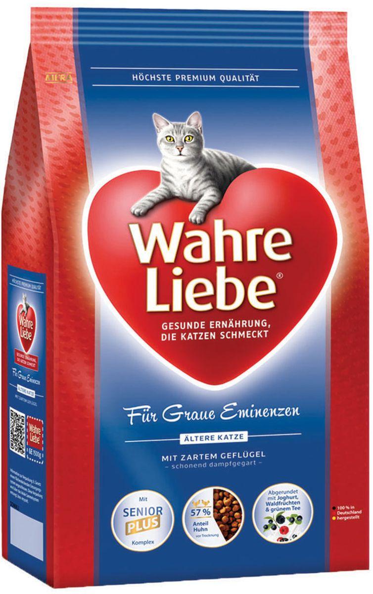 Корм сухой Wahre Liebe Altere, для стареющих кошек, 1,5 кг30845Для стареющих (пожилых) кошек Формула для кошек старшего возраста. С нежной домашней птицей и рисом, дополненная лесными фруктами и зеленым чаем. Кошки преклонного возраста требуют диеты с уменьшенным содержанием фосфора, чтобы максимально снизить нагрузку на почки. Специально созданный активный комплекс SeniorPLUS поддержит клеточную защиту, а полифенолы зеленого чая помогут усилить иммунную систему.
