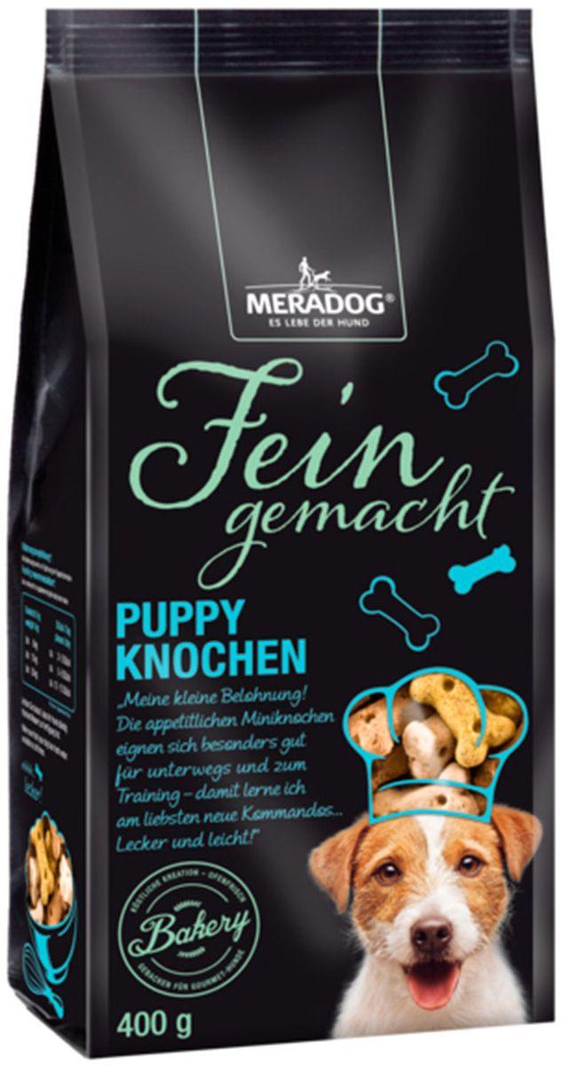 Лакомство для собак Meradog Puppy Knochen Mix, щенячье удовольствие, 400 г47074Печенье (лакомства) для собак. Как вознаграждение, а также дополнение к основному рациону собак