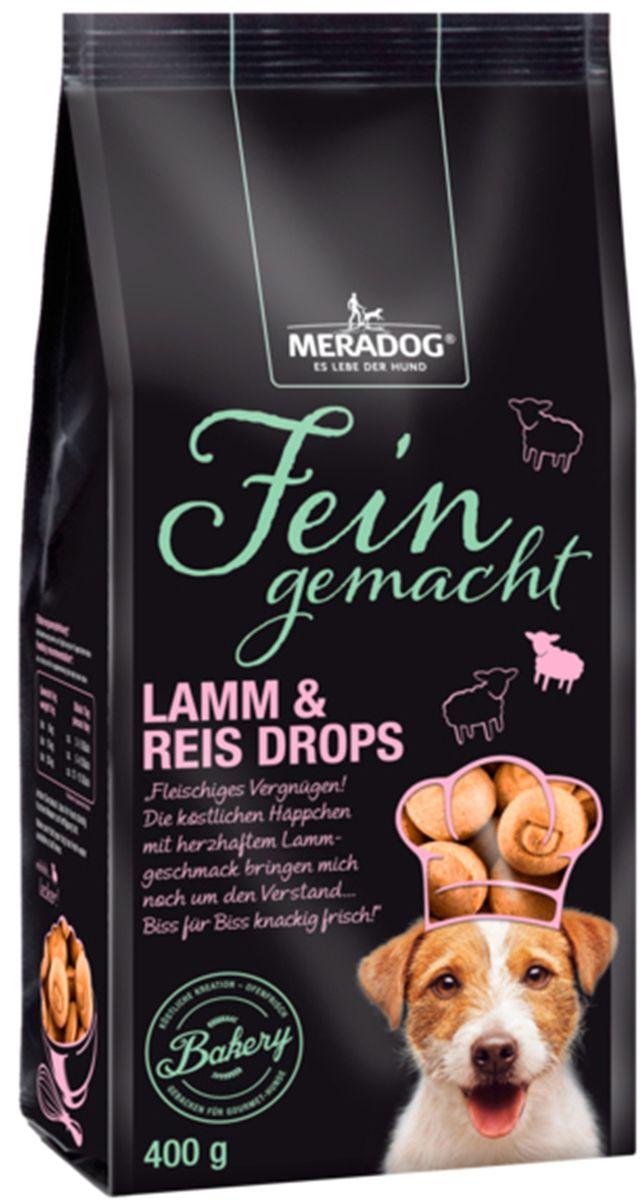 Лакомство для собак Meradog Lamm & Rice Drops, хрустящие капельки, 400 г47174Печенье (лакомства) для собак. Как вознаграждение, а также дополнение к основному рациону собак
