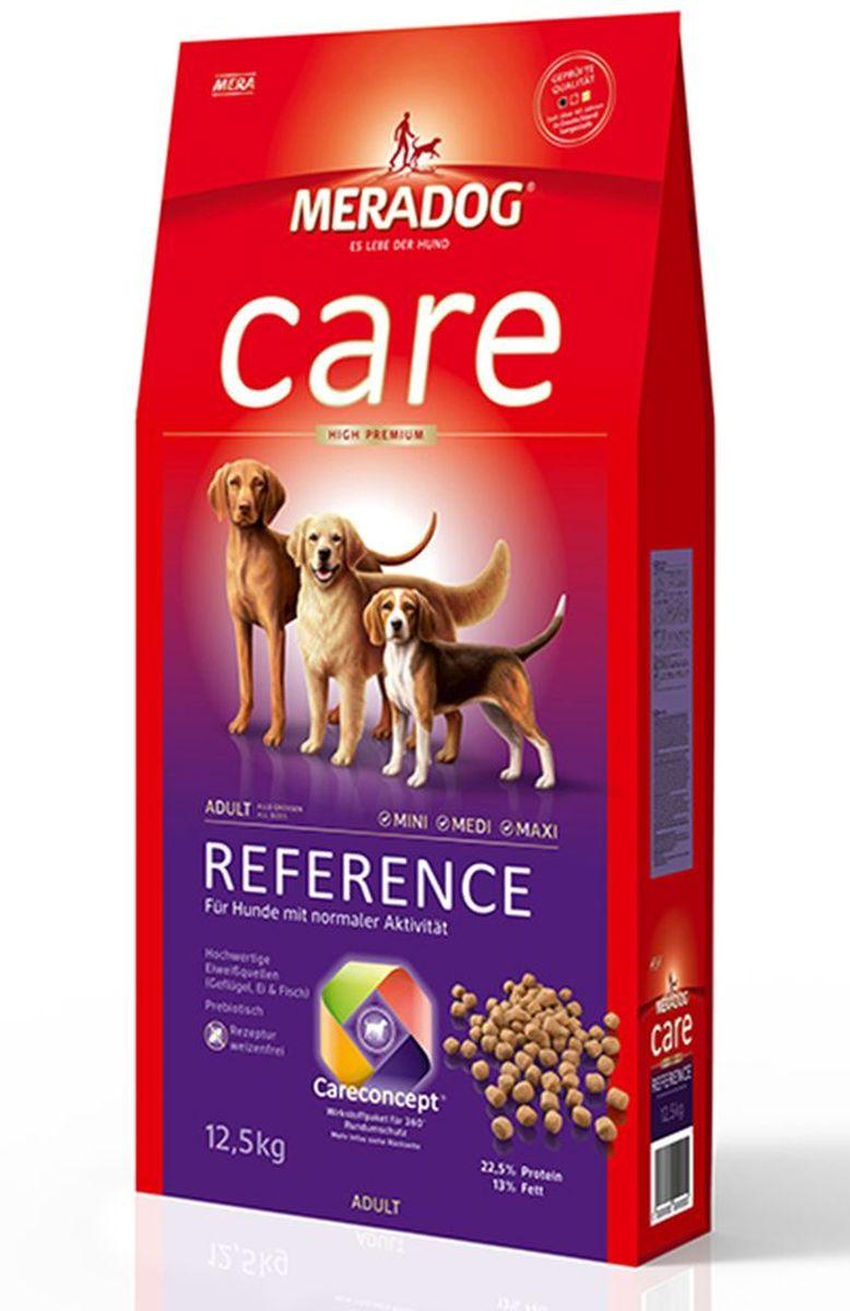 Корм сухой Meradog Reference, для взрослых собак с нормальной активностью, 12,5 кг51050Полнорационный корм для взрослых собак с нормальной активностью. Формула Запах, стоп! и концепция защиты от MERADOG :антиоксиданты (витамин C, Е, бета-каротин и селен) для оптимальной защиты клеток. Натуральные жирные кислоты Омега-3 и Омега-6 (масло лосося, подсолнечное масло и масло льняных семян), а также хелат цинка для кожи и шерсти. Пребиотический инулин для стабильной кишечной флоры и надежного пищеварения. Источники высококачественного белка (птица, яйца, рыба) для поддержания оптимального телосложения и обмена веществ. Формула «Запах, стоп!» - комплекс биологически активных веществ для уменьшения неприятного запаха от собаки.