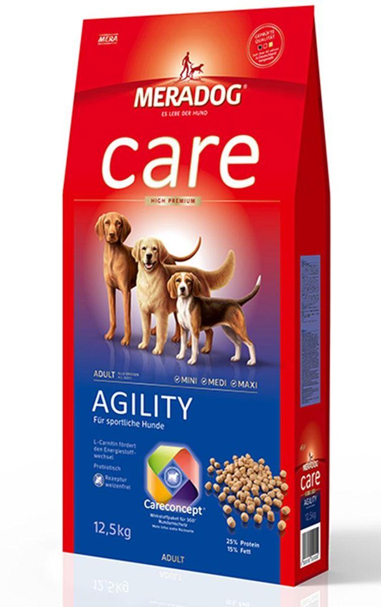 Корм сухой Meradog Agility, для взрослых собак с повышенным уровнем активности, 300 г51276Полнорационный корм для взрослых собак с повышенным уровнем активности и концепция защиты от MERADOG:антиоксиданты (витамин C, Е, бета-каротин и селен) для оптимальной защиты клеток. Натуральные жирные кислоты Омега-3 и Омега-6 (масло лосося, подсолнечное масло и масло льняных семян), а также хелат цинка для кожи и шерсти. Пребиотический инулин для стабильной кишечной флоры и надежного пищеварения. Формула «Запах, стоп!» - комплекс биологически активных веществ для уменьшения неприятного запаха от собаки. L-карнитин способствует жировому и энергетическому обмену. Источники высококачественного белка (птица, яйца, рыба) для поддержания оптимального телосложения и жизнеспособности.