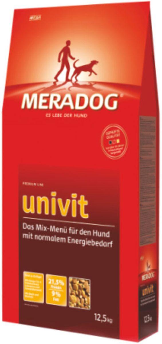 Корм сухой Meradog Univit, микс-меню для собак с нормальной активностью, 4 кг52234Смешанное меню в качестве полнорационного корма для собак с нормальной активностью