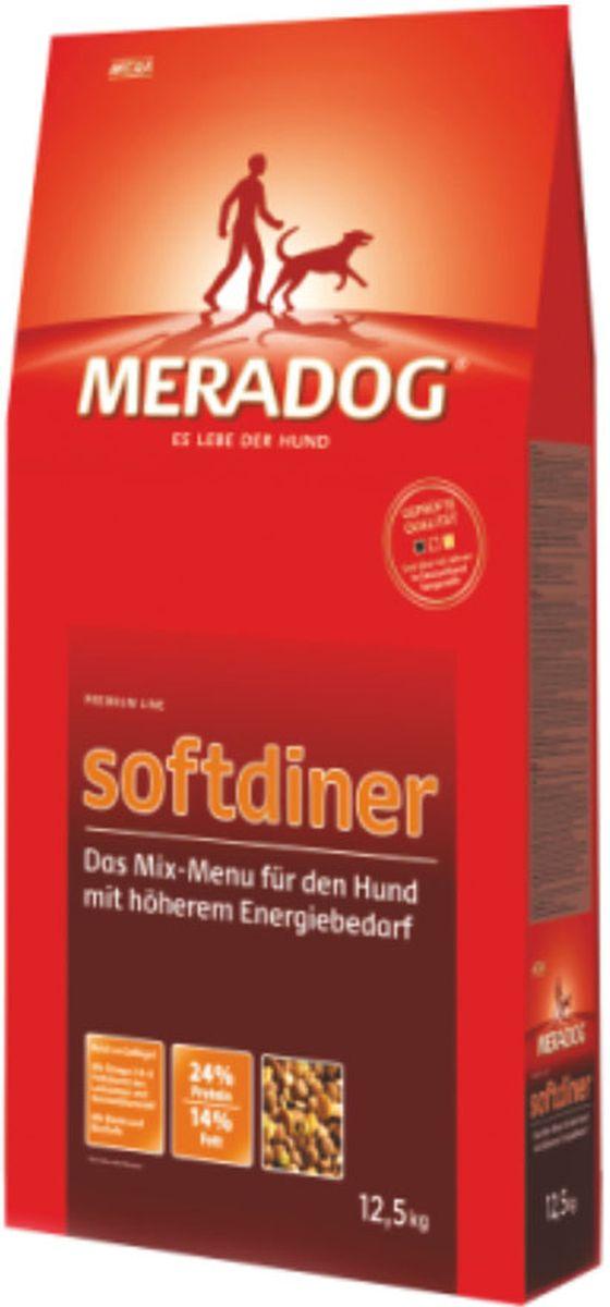 Корм сухой Meradog Softdiner, микс-меню для собак с повышенным уровнем активности, 12,5 кг52350Смешанное меню в качестве полнорационного корма для собак с повышенной активностью