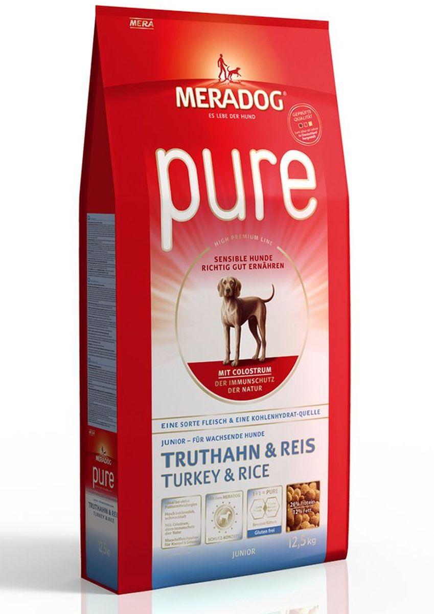 Корм сухой Meradog Pure Junior Turkey & Rice, для растущих собак с проблемами в питании/аллергиями, с индейкой и рисом, 12,5 кг53550Полнорационный корм для растущих собак с проблемами в питании и/или аллергиями.Для кормящих сук Высококачественный порошок из мяса моллюсков. С колострумом (природная иммунная защита)Без глютена и концепция защиты от MERADOG:антиоксиданты (витамин C, Е, бета-каротин и селен) для оптимальной защиты клеток. Натуральные жирные кислоты Омега-3 и Омега-6 (масло лосося, подсолнечное масло и масло льняных семян), а также хелат цинка для кожи и шерсти. Пребиотический инулин для стабильной кишечной флоры и надежного пищеварения. Высококачественный животный белок (индейка) для поддержания оптимального телосложения и обмена веществ. Идеально при многих пищевых аллергий. Только один источник углеводов и только один вид мяса. Колострум, маннан-олигосахариды и бета-глюканы для оптимальной иммунной защиты.