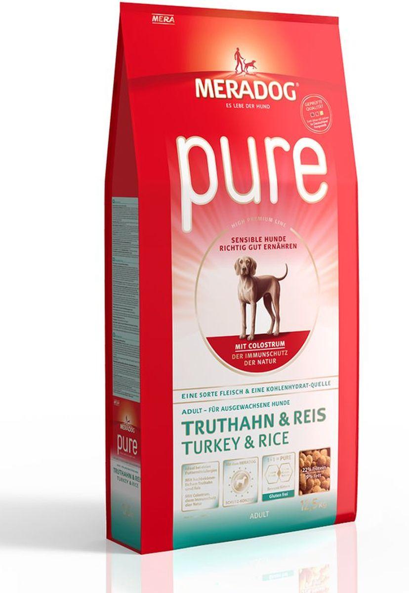 Корм сухой Meradog Pure Turkey & Rice, для взрослых собак с проблемами в питании/аллергиями, с индейкой и рисом, 12,5 кг53850Полнорационный корм для взрослых собак с проблемами в питании и/или аллергиями и концепция защиты от MERADOG:антиоксиданты (витамин C, Е, бета-каротин и селен) для оптимальной защиты клеток. Натуральные жирные кислоты Омега-3 и Омега-6 (масло лосося, подсолнечное масло и масло льняных семян), а также хелат цинка для кожи и шерсти. Пребиотический инулин для стабильной кишечной флоры и надежного пищеварения. Высококачественный животный белок (индейка) для поддержания оптимального телосложения и обмена веществ. Идеально при многих пищевых аллергий. Только один источник углеводов и только один вид мяса. Колострум, маннан-олигосахариды и бета-глюканы для оптимальной иммунной защиты.