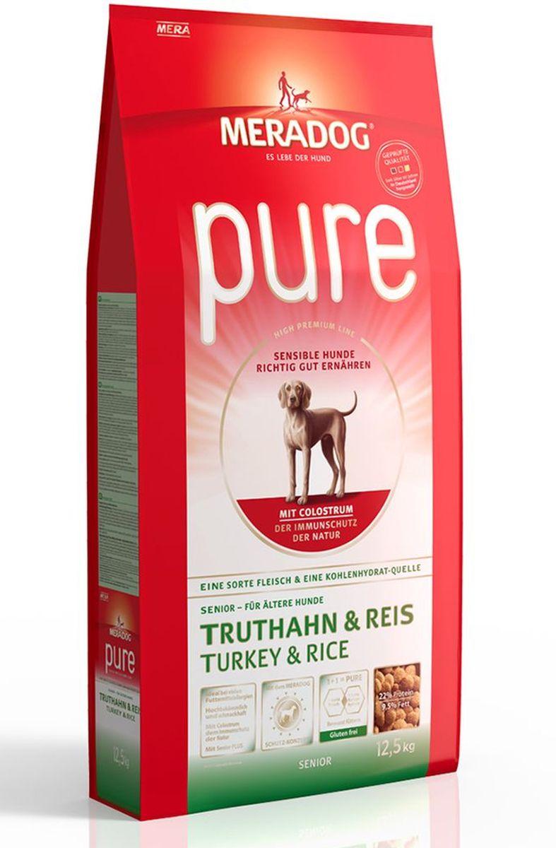 Корм сухой Meradog Pure Turkey & Rice Senior, для стареющих собак с проблемами в питании/аллергиями, с индейкой и рисом, 12 кг54750Полнорационный корм для стареющих собак с проблемами в питании и/или аллергиями и концепция защиты от MERADOG:антиоксиданты (витамин C, Е, бета-каротин и селен) для оптимальной защиты клеток. Натуральные жирные кислоты Омега-3 и Омега-6 (масло лосося, подсолнечное масло и масло льняных семян), а также хелат цинка для кожи и шерсти. Пребиотический инулин для стабильной кишечной флоры и надежного пищеварения. Высококачественный животный белок (индейка) для поддержания оптимального телосложения и обмена веществ. Идеально при многих пищевых аллергий. Только один источник углеводов и только один вид мяса. Колострум, маннан-олигосахариды и бета-глюканы для оптимальной иммунной защиты.