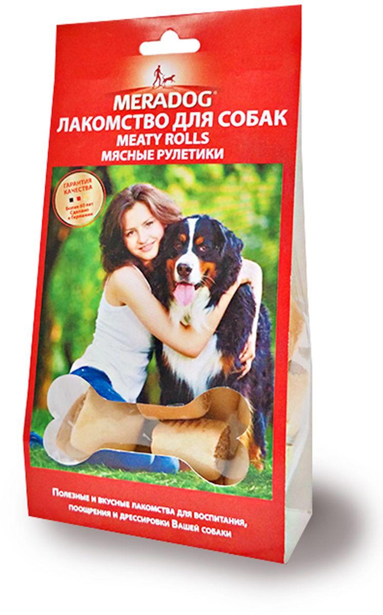 Лакомство для собак Meradog Meaty Rolls Natur, мясные рулетики, 150 г941010Печенье (лакомства) для собак. Как вознаграждение, а также дополнение к основному рациону собак