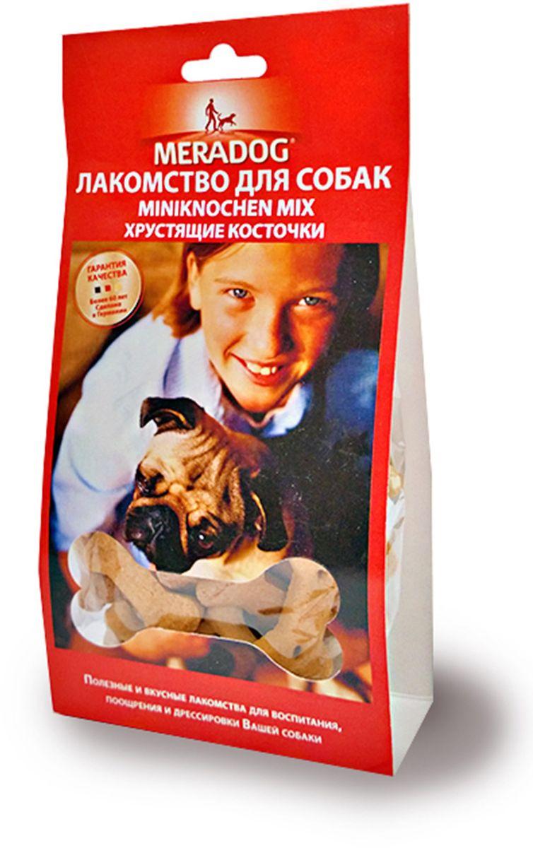 Лакомство для собак Meradog Miniknochen Mix, хрустящие косточки, 150 г941610Печенье (лакомства) для собак. Как вознаграждение, а также дополнение к основному рациону собак