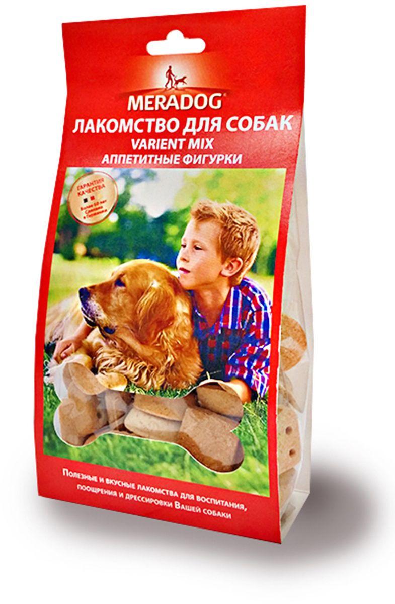 Лакомство для собак Meradog Variant Mix, аппетитные фигурки, 150 г942510Печенье (лакомства) для собак. Как вознаграждение, а также дополнение к основному рациону собак