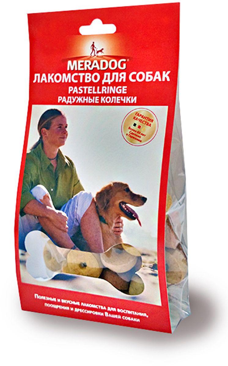 Лакомство для собак Meradog Pastellringe, радужные колечки, 150 г942710Печенье (лакомства) для собак. Как вознаграждение, а также дополнение к основному рациону собак