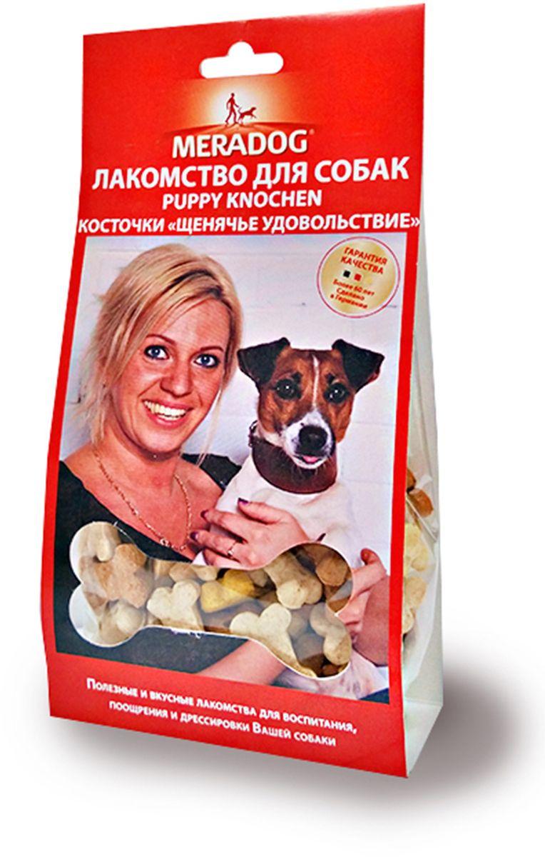 Лакомство для собак Meradog Puppy Knochen Mix, щенячье удовольствие, 150 г943410Печенье (лакомства) для собак. Как вознаграждение, а также дополнение к основному рациону собак