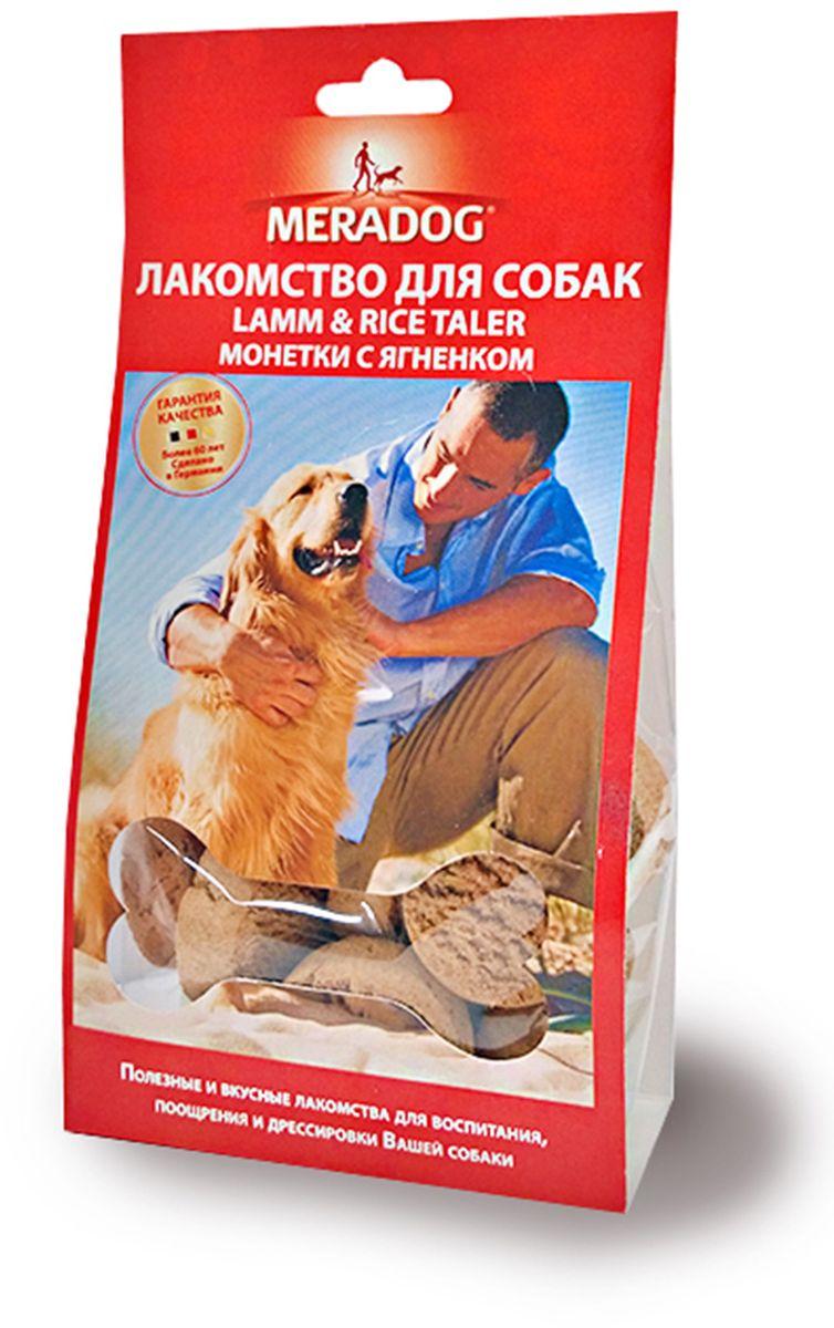 Лакомство для собак Meradog Lamm & Rice Taler, монетки с ягненком, 150 г943710Печенье (лакомства) для собак. Как вознаграждение, а также дополнение к основному рациону собак