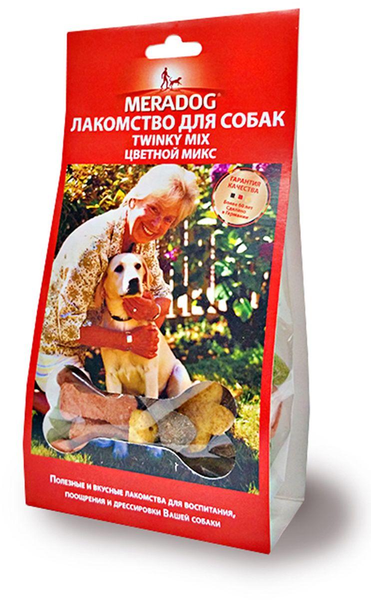 Лакомство для собак Meradog Twinky Mix, цветной микс, 150 г944010Печенье (лакомства) для собак. Как вознаграждение, а также дополнение к основному рациону собак