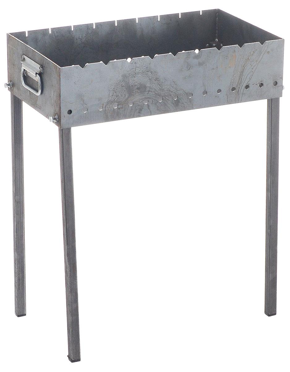 Мангал стационарный Пикничок, с перчатками401-266Стационарный мангал Пикничок предназначен для приготовления продуктов на углях на открытом воздухе. Сварной корпус изготовлен из стальных листов толщиной 3 мм, а также из высококачественной жаропрочной углеродистой стали. Такой мангал хорошо поддерживает жар, не требует большого количества угля. Благодаря особой конструкции, мангал обладает повышенной устойчивостью. Благодаря этому не коробится при использовании. В комплект входят хлопчатобумажные перчатки с ПВХ напылением. . Размер мангала (с учетом ножек): 60 х 35 х 80 см.