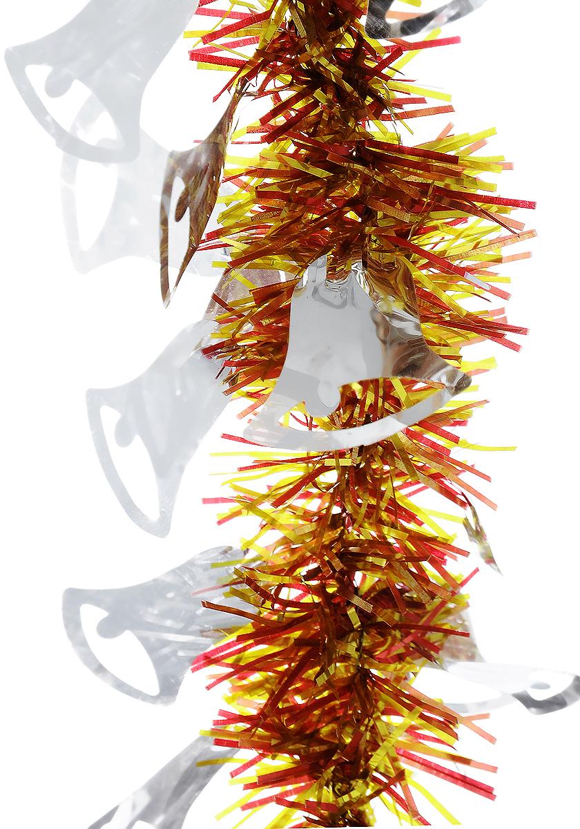 Мишура новогодняя B&H Колокольчики, цвет: золотистый, красный, серебристый, длина 2 мBH1050_Колокольчики_золотистый, красный, серебристыйМишура новогодняя B&H Колокольчики, выполненная из ПВХ, поможет вам украсить свой дом к предстоящим праздникам. Новогодняя елка с таким украшением станет еще наряднее. Новогодней мишурой можно украсить все, что угодно - елку, квартиру, дачу, офис - как внутри, так и снаружи. Можно сложить новогодние поздравления, буквы и цифры, мишурой можно украсить и дополнить гирлянды, можно выделить дверные колонны, оплести дверные проемы.