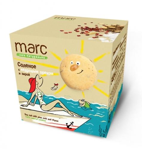 Marc соленое печенье с кедровым орехом и зирой, 150 г2847Необычный вкус и очевидная польза - вы по достоинству оцените соленое печенье Marc с кедровым орехом и зирой! Отличный вариант для легкого перекуса. Берем с собой куда угодно - на учебу, на работу, в кино или на прогулку.