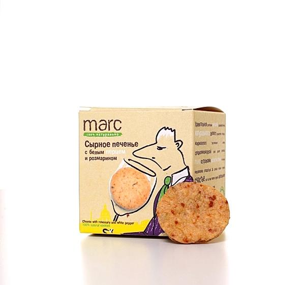 Marc сырное печенье с белым перцем и розмарином, 150 г2860Пряное печенье с пармезаном в средиземноморском стиле. Аккомпанемент закускам, к вину-чаю-кофе и дружеским посиделкам. Из натуральных качественных продуктов.