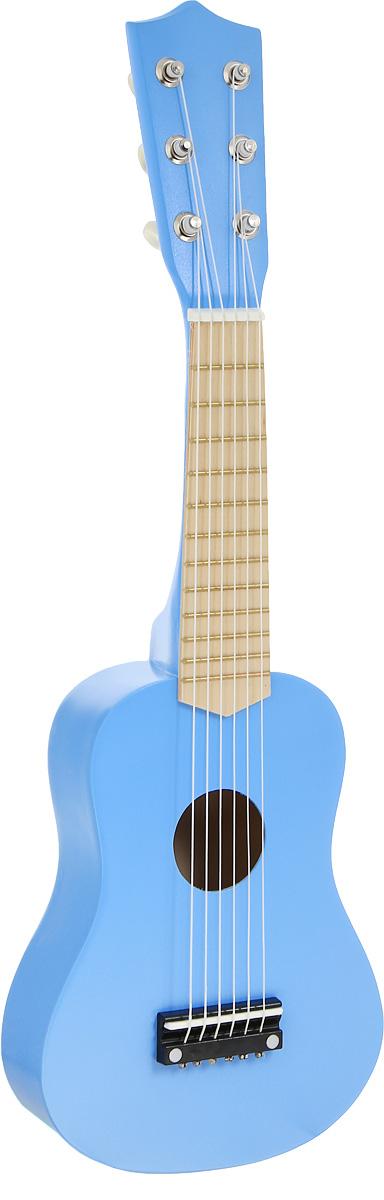 Игрушки из дерева Гитара цвет синийД221_синийГитара Игрушки из дерева прекрасно подойдет для занятий музыкальным творчеством. Гитара изготовлена из высококачественного натурального дерева и оснащена шестью струнами. Игрушка помогает малышам развить чувство ритма, творческое мышление и воображение, а также способствует самовыражению.