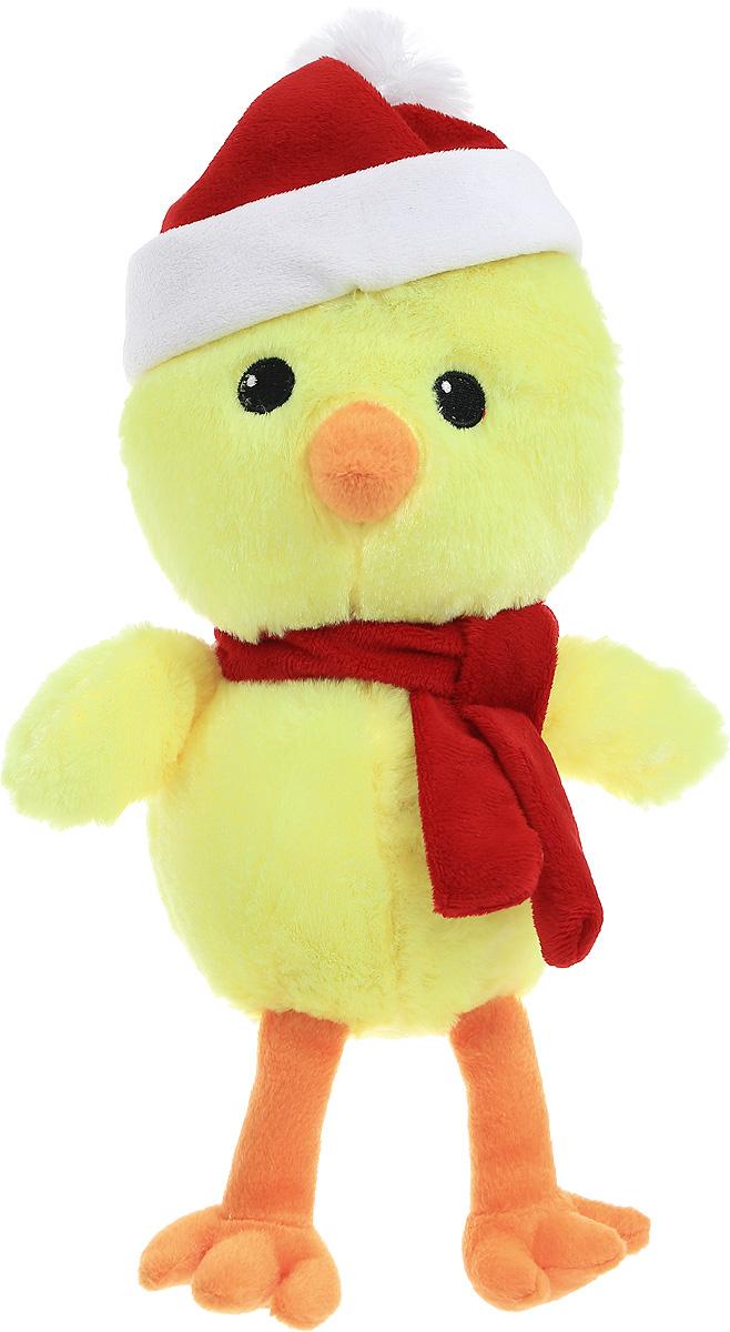 Gulliver Мягкая игрушка Цыпленок Цыпа Санта 20 см66-OT159349_сантаМягкая игрушка Gulliver Цыпленок Цыпа Санта выполнена в виде желтого цыпленка в шапке и с шарфом на шее. Игрушка изготовлена из высококачественного материала и полностью безопасна для ребенка. Удивительно мягкая игрушка принесет радость и подарит своему обладателю мгновения нежных объятий и приятных воспоминаний. В процессе игры у крохи будет развиваться зрительная память, фантазия, логическое и образное мышление, ребенок научится сосредотачиваться на одном предмете, быть усидчивым и внимательным. Цыпленок (петух, курица) является символом 2017 года! Порадуйте себя и своих близких таким прекрасным символом, приносящим радость и счастье в каждый дом!