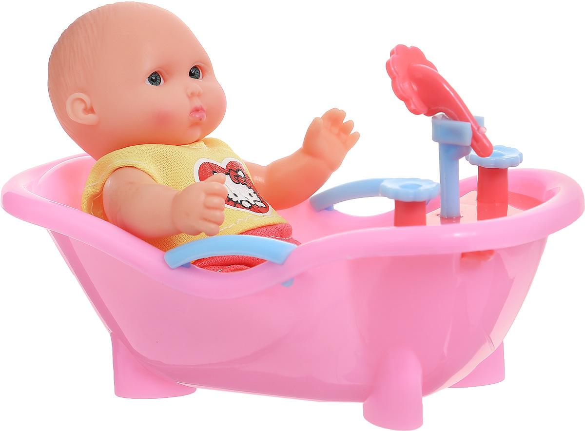 Карапуз Пупс Hello Kitty в ванночке увет розовый желтыйB1118261-RU-HELLO KITTY/ пупс в ванночкеПупс Карапуз Hello Kitty - это замечательный пупс, с которым очень интересно играть. В комплекте имеются полотенчико и ванночка, с которыми процесс игры станет еще увлекательнее. С маленьким карапузом можно играть не только на суше, но и в воде.