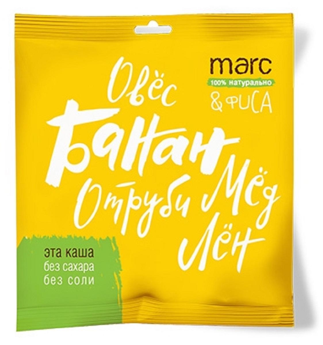 Marc&Фиса Каша банан и мед, 44 г2850Быстрого приготовления. В основе овес, лен и овсяные отруби. Не содержат жир, сахар и ароматизаторы. Сбалансированный источник клетчатки и Омега 3-6-9. Порция на одного.