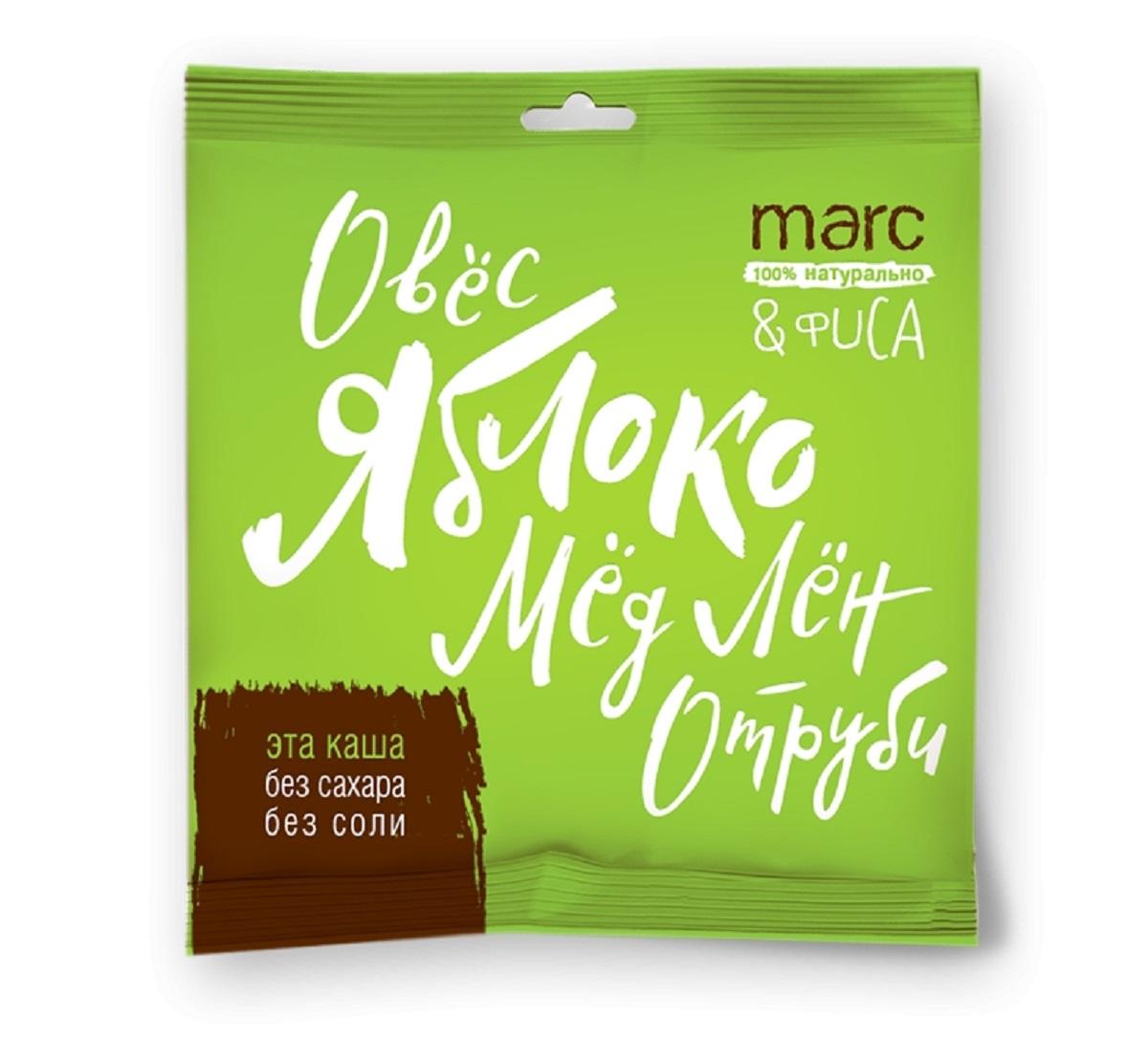 Marc&Фиса Каша яблоко, корица, 44 г2852Быстрого приготовления. В основе овес, лен и овсяные отруби. Не содержат жир, сахар и ароматизаторы. Сбалансированный источник клетчатки и Омега 3-6-9. Порция на одного.